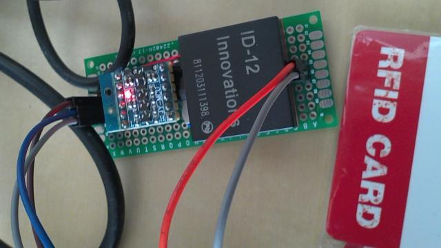 BBB RFID (ID-12) Adapter board