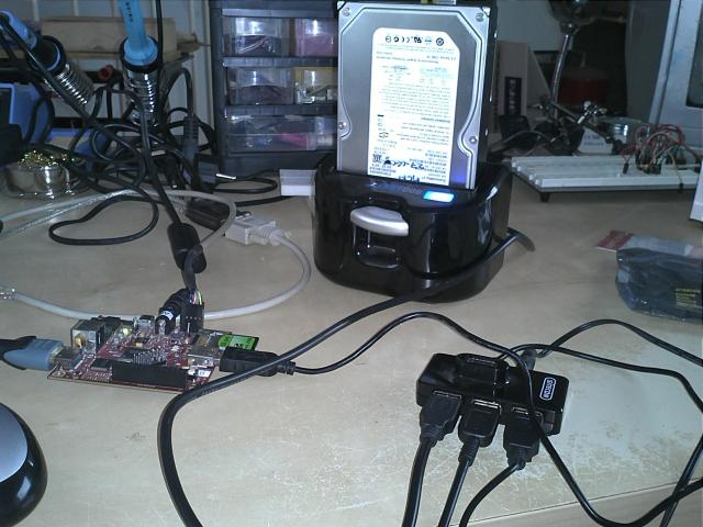 Beagleboard with external Hard drive