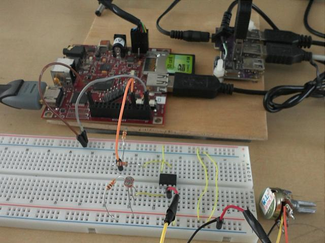 BeagleBoard Analog Inputs test setup