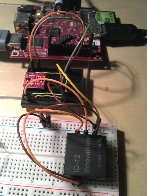 BeagleBoard RFID reading through UART2