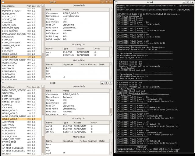 GNU/EDMA Hotwap with Python Scripts