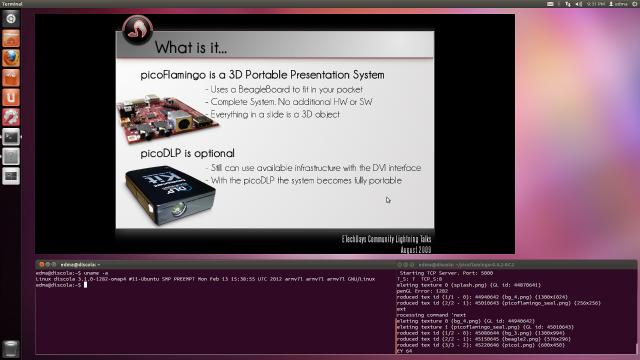picoFlamingo on Pandaboard Ubuntu 11.10