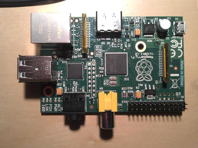"Raspberry PI Revision 2 from RSComponents: After several months a Raspberry Pi has arrived. Note that this one from RS-Component is still ""Made in China"". Also notes the blocked holes on P2 and P5"