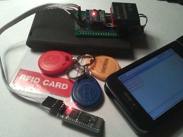 BT-enabled RFID reader complete