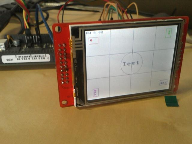 Test application for Watterott LCD adapter 2